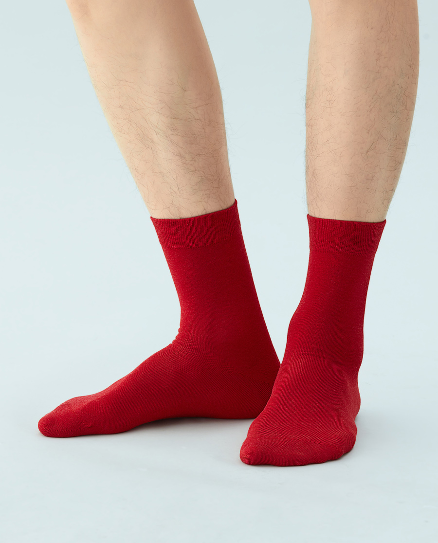 JOURVA袜子|足哇绒绒暖冬男士羊绒短筒袜JV21104