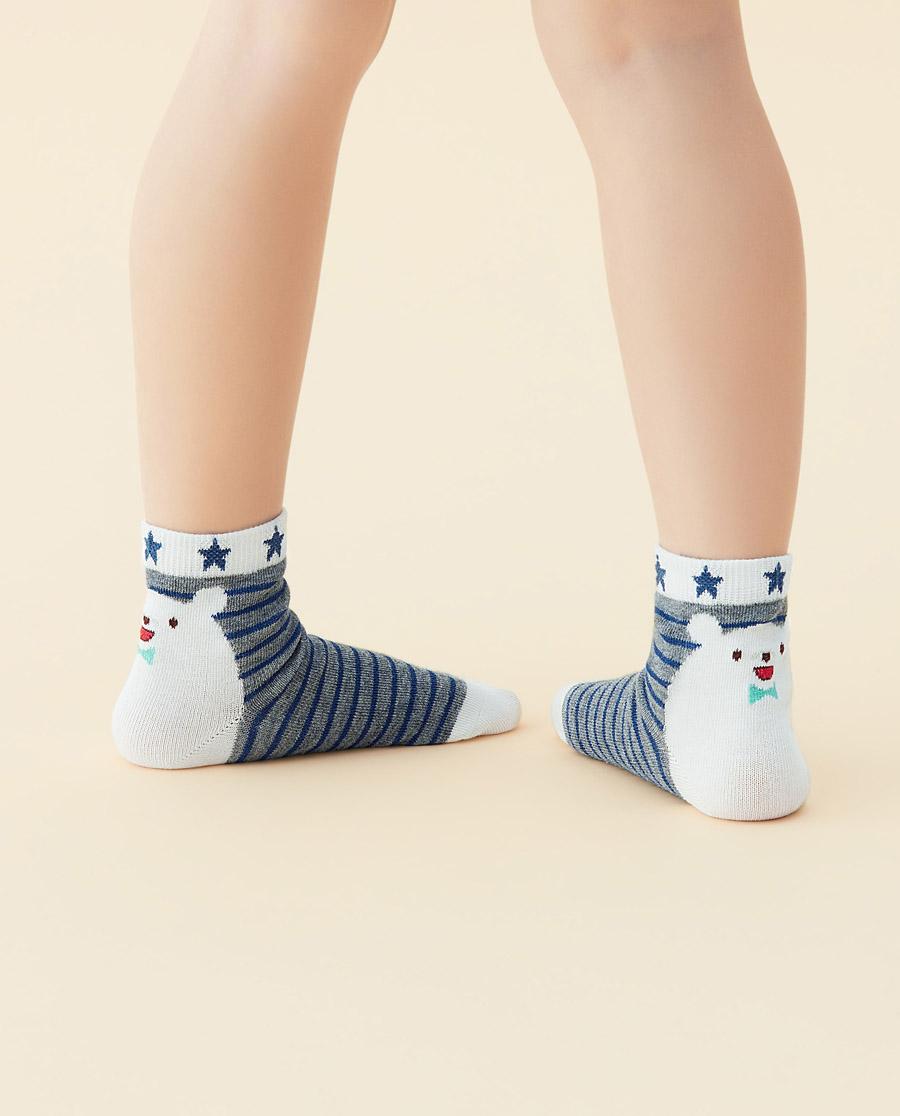 JOURVA襪子|足哇20SS快樂時光小熊星星提花短筒襪J