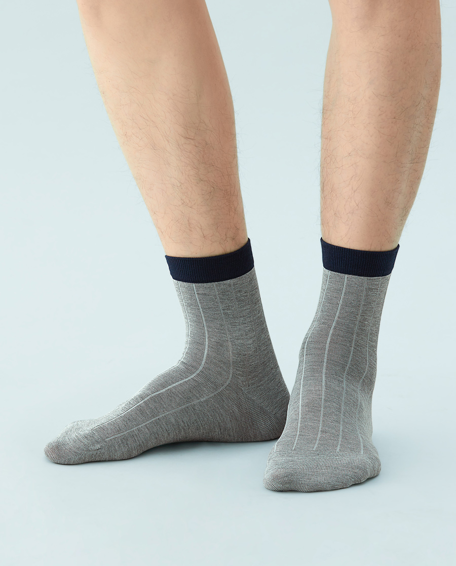 JOURVA袜子|足哇绅士情结男士袜腰撞色短筒袜JV211