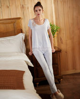 Le Chat蓝色茉莉系列短袖分身睡衣套装LEAF802