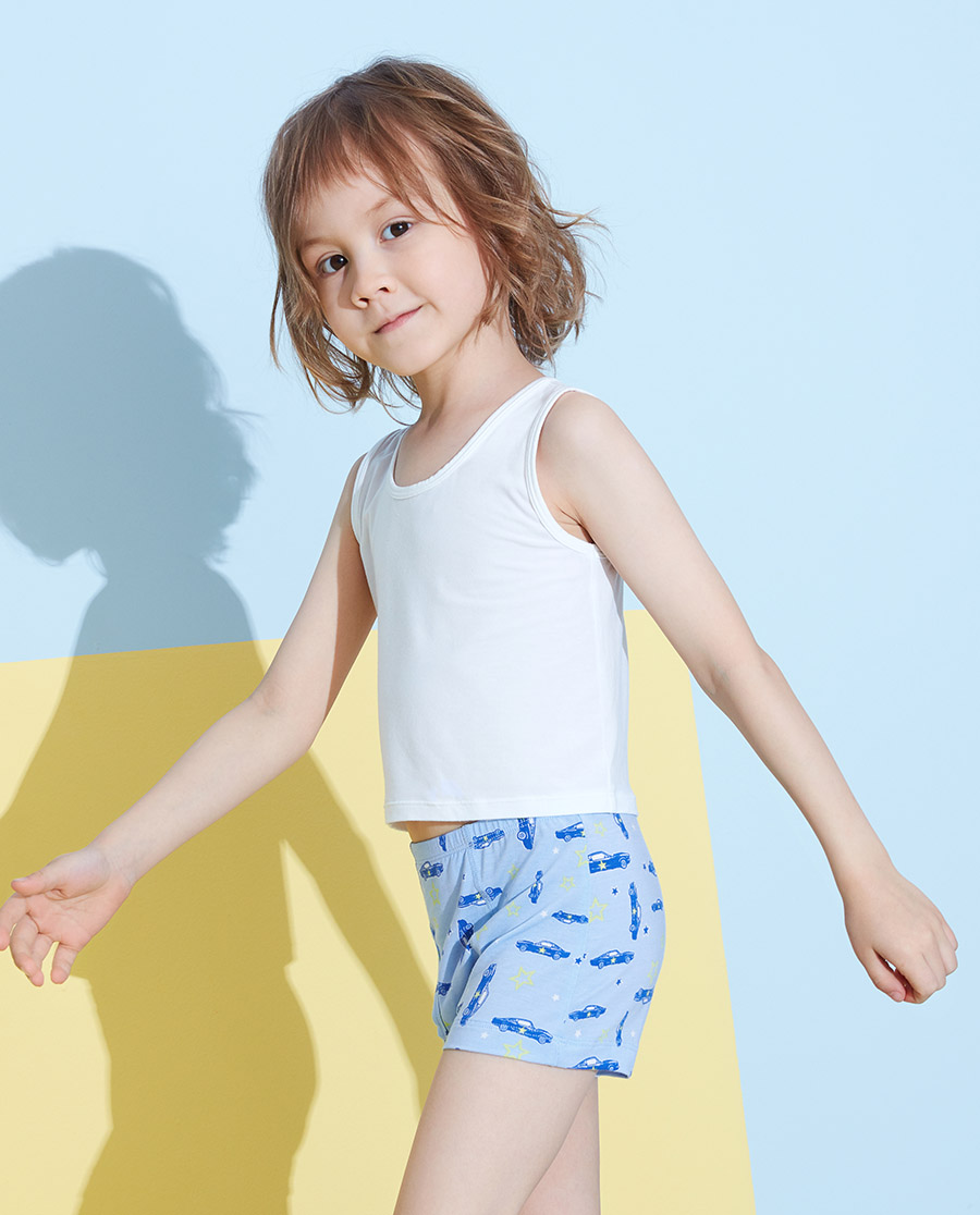 Aimer Kids內褲|愛慕兒童天使小褲MODAL印花男孩星星車