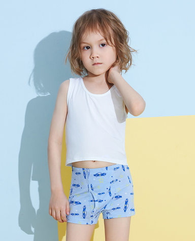 Aimer Kids内裤|爱慕儿童天使小裤MODAL印花男孩星星车队中腰平角裤AK2232814