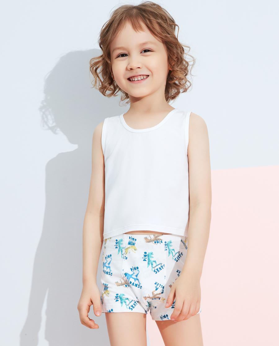 Aimer Kids內褲|愛慕兒童天使小褲棉氨綸印花嘻哈恐龍中腰平