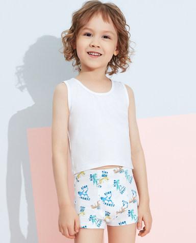 Aimer Kids内裤|爱慕儿童天使小裤棉氨纶印花嘻哈恐龙中腰平角裤AK2232823