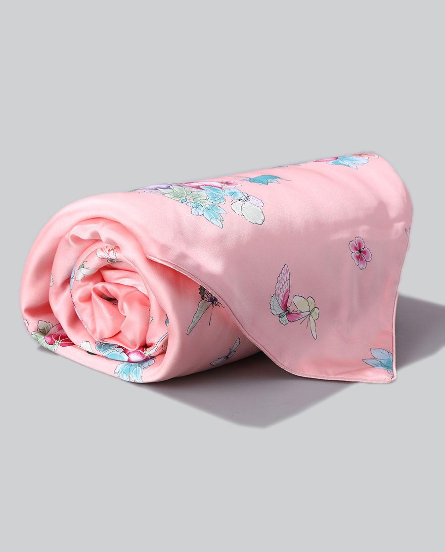 EMPERORIENT配飾|皇錦印花蠶絲被-瓜蝶連綿(方毯)HJ11