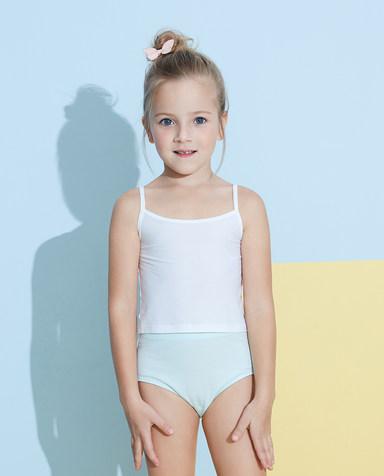 Aimer Kids内裤|爱慕儿童天使小裤棉氨纶印花女童冰淇淋女孩中腰三角裤AK1222824