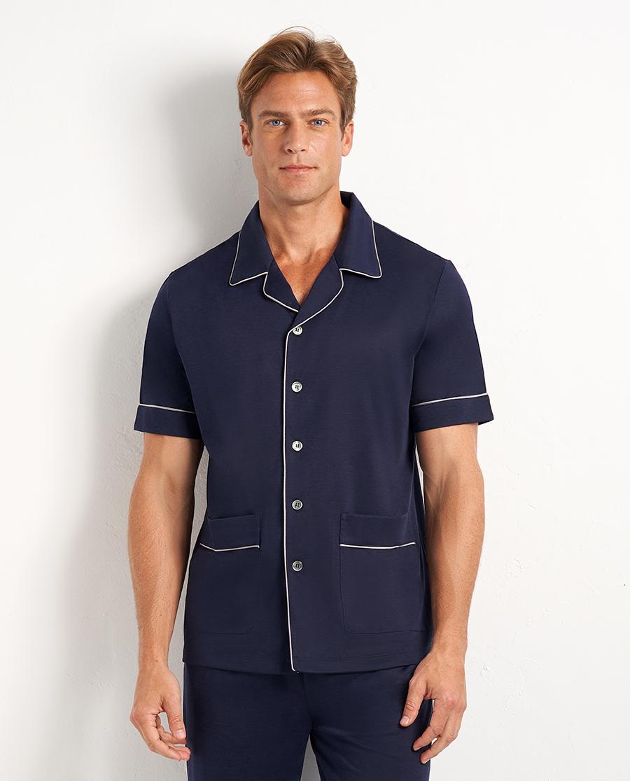 Aimer Men睡衣|愛慕先生20SS竹麻印象翻領開衫短袖NS