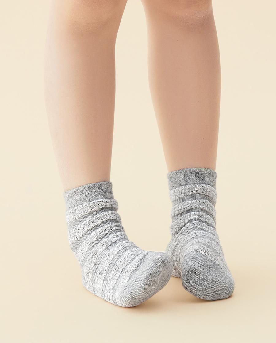 JOURVA袜子|足哇素色提花短筒袜JV3110501