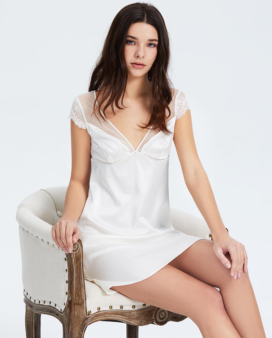 Lise Charmel睡衣|Lise Charmel白色婚禮系列睡裙