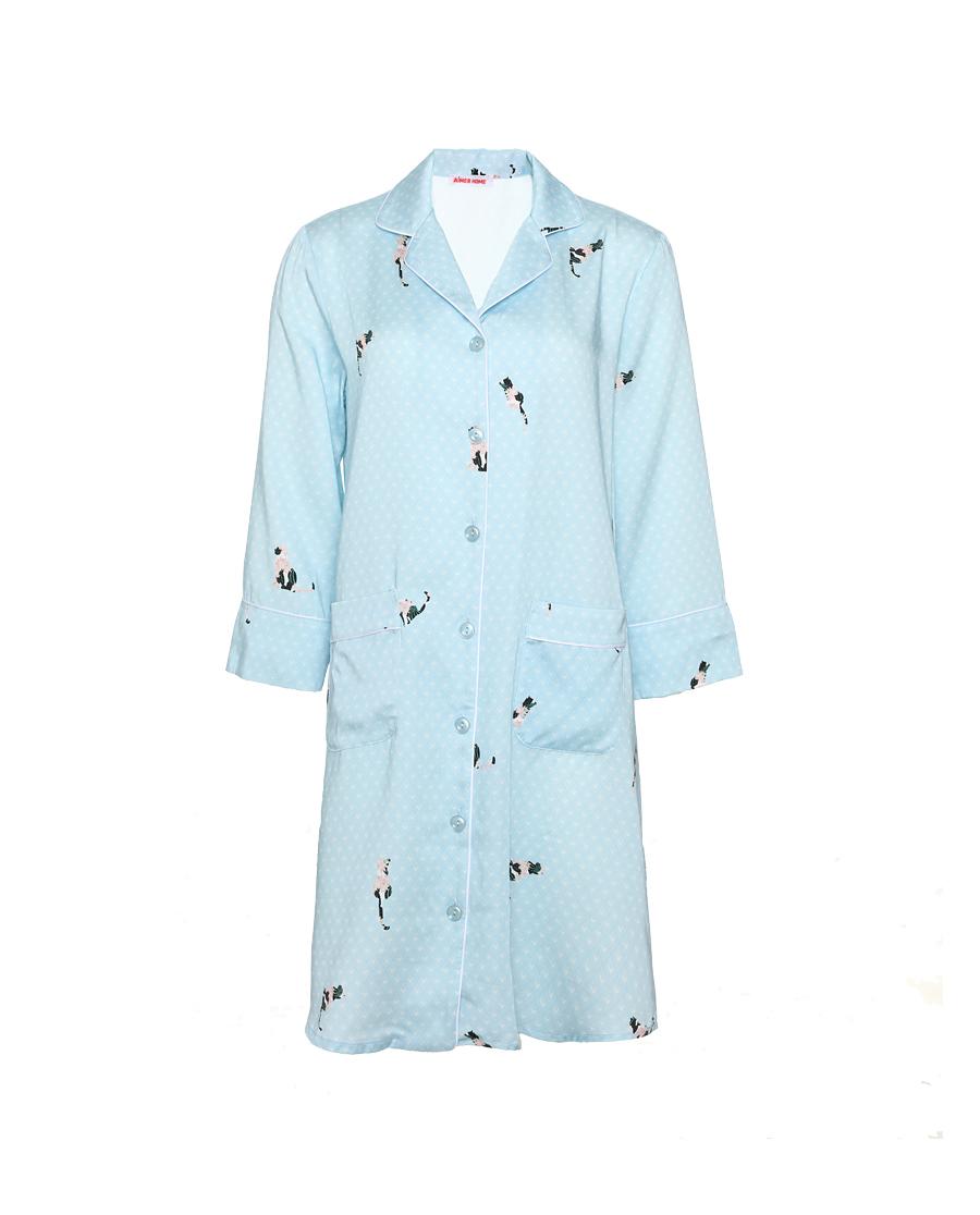 Aimer Home睡衣|愛慕花喵襯衫裙AH440871