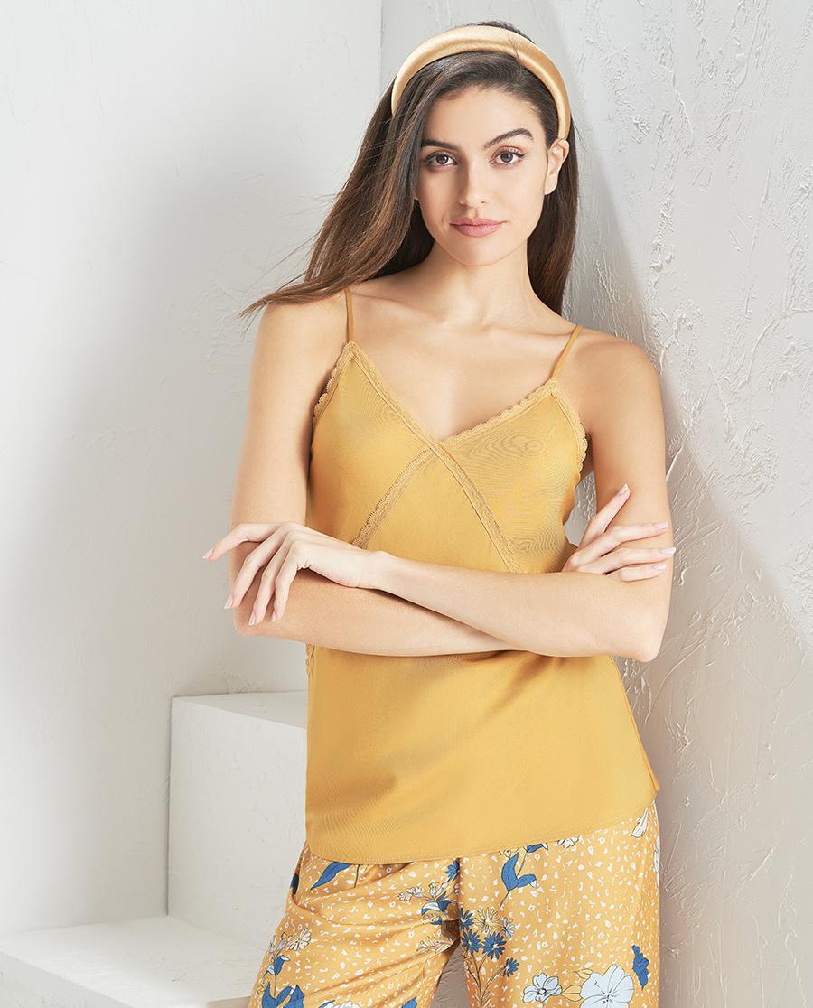 Aimer Home睡衣|爱慕花颜细带短背心AH420841
