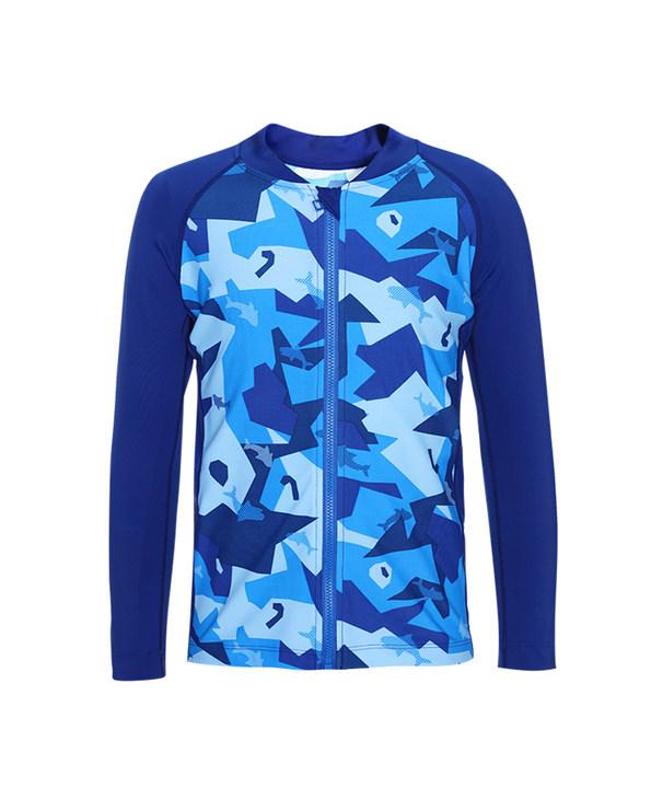 Aimer Kids泳衣|爱慕儿童色块迷彩男孩长袖泳衣AK2673232