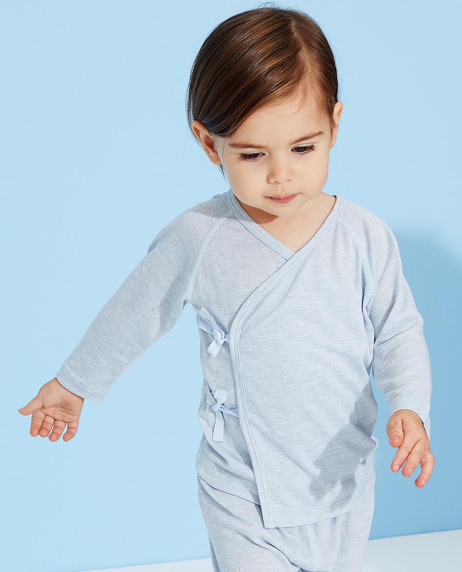 Aimer Baby睡衣|爱慕婴儿植物凉爽男婴幼系绳长袖睡衣AB2