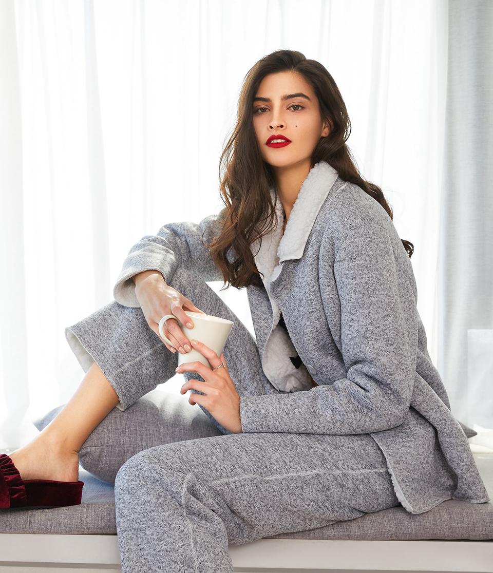 Le Chat睡衣|Le Chat舒適暖絨系列加厚家居服上衣