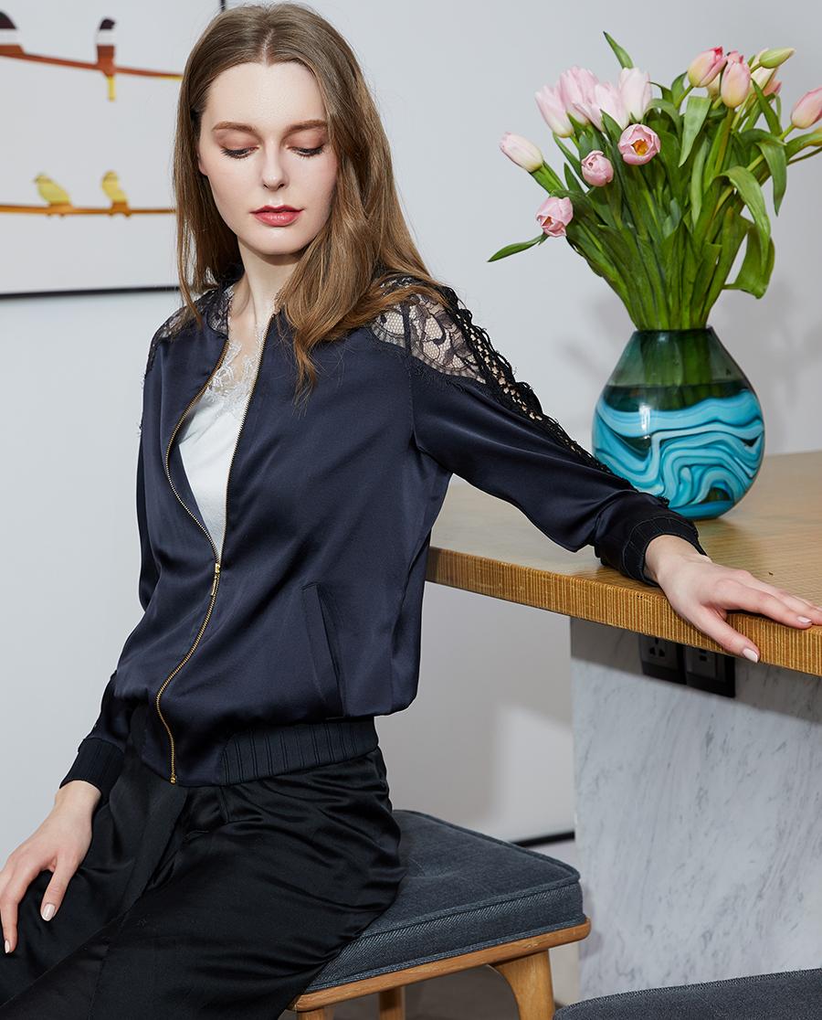 La Clover睡衣|LA CLOVER蘭卡文愛莎系列長袖拉鏈