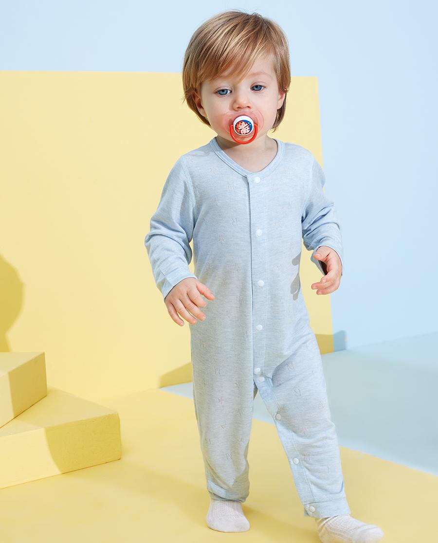 Aimer Baby睡衣|爱慕婴儿植物凉爽长袖连体爬服AB2452