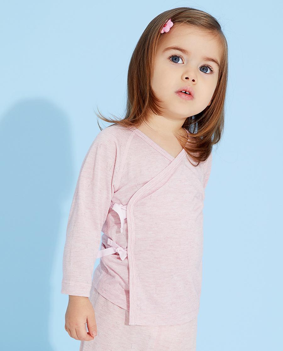 Aimer Baby睡衣|爱慕婴儿植物凉爽女婴幼系绳长袖睡衣AB1