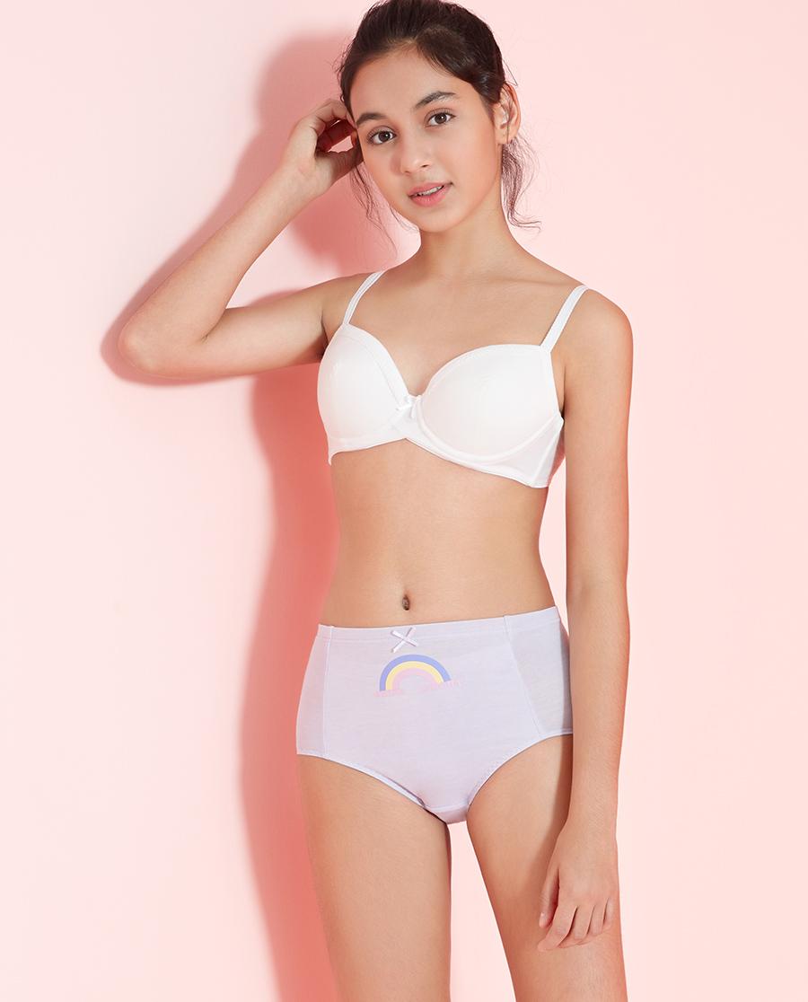Aimer Junior内裤|爱慕少年彩虹心情生理裤两件包AJ1223