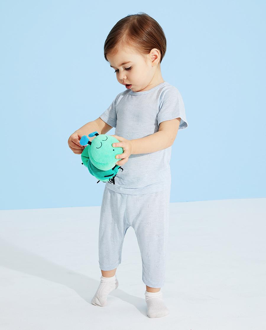 Aimer Baby睡衣|愛慕嬰兒植物涼爽七分大屁屁睡褲AB242
