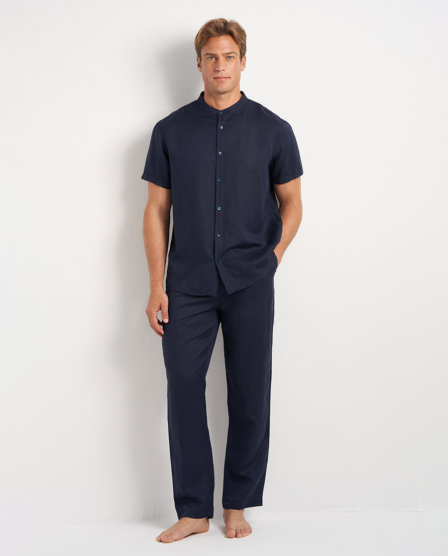 Aimer Men睡衣|爱慕先生休闲亚麻长裤NS82D611