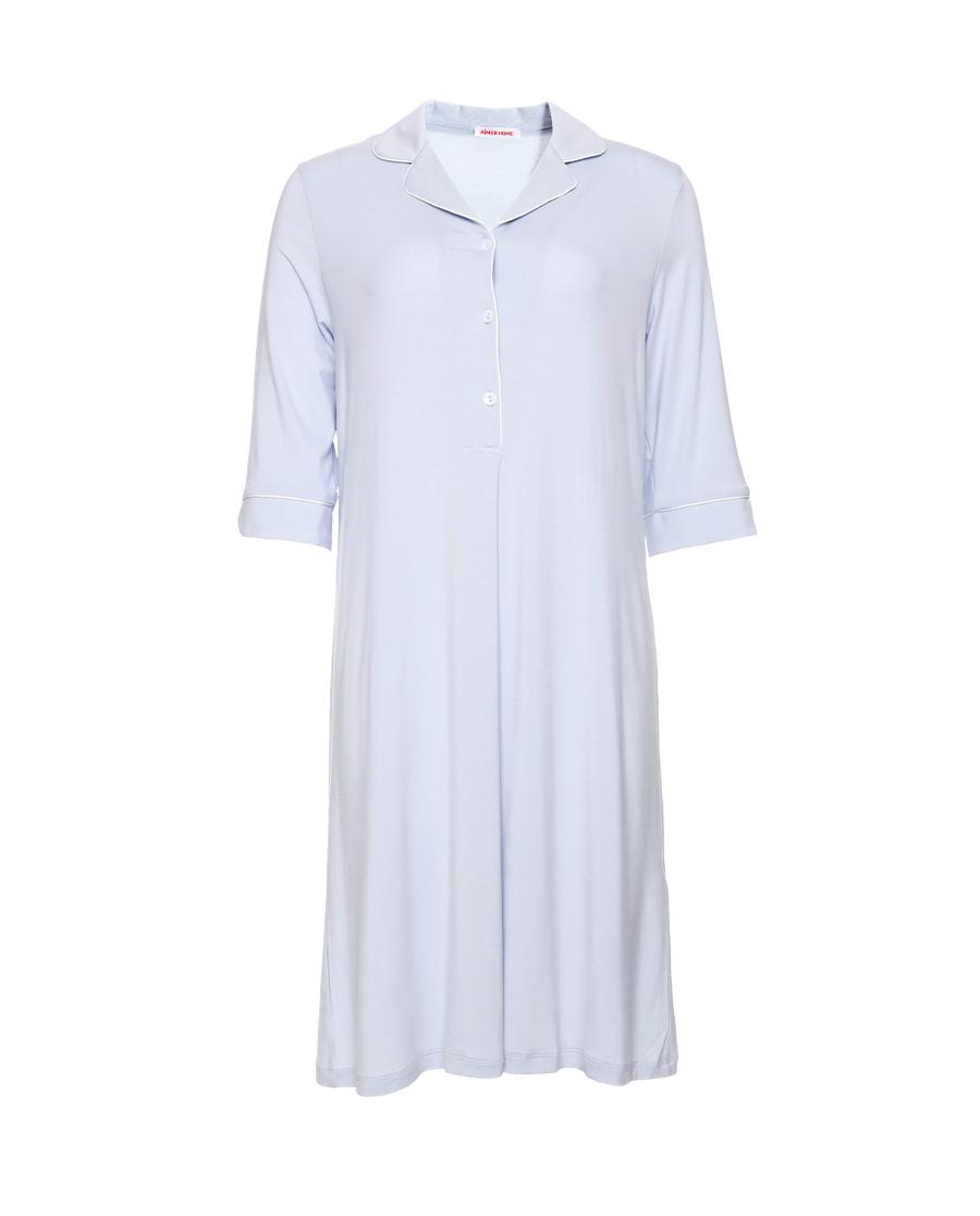 Aimer Home睡衣|愛慕靜享夏日翻領七分袖中長睡裙AH440