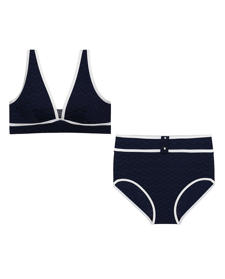 Aimer泳衣|愛慕塞舌爾旋律高腰比基尼AM674311