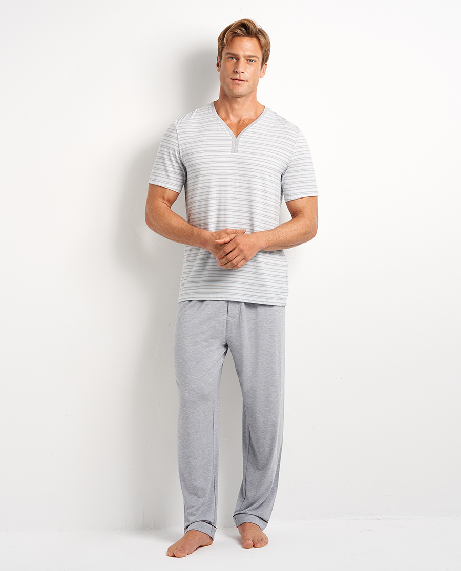 Aimer Men睡衣|爱慕先生条纹情怀长裤NS42D841