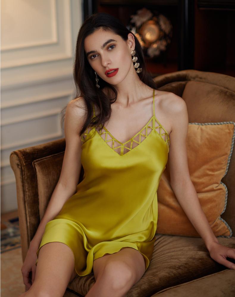LUNA DI SETA睡衣|純凈系列真絲吊裙