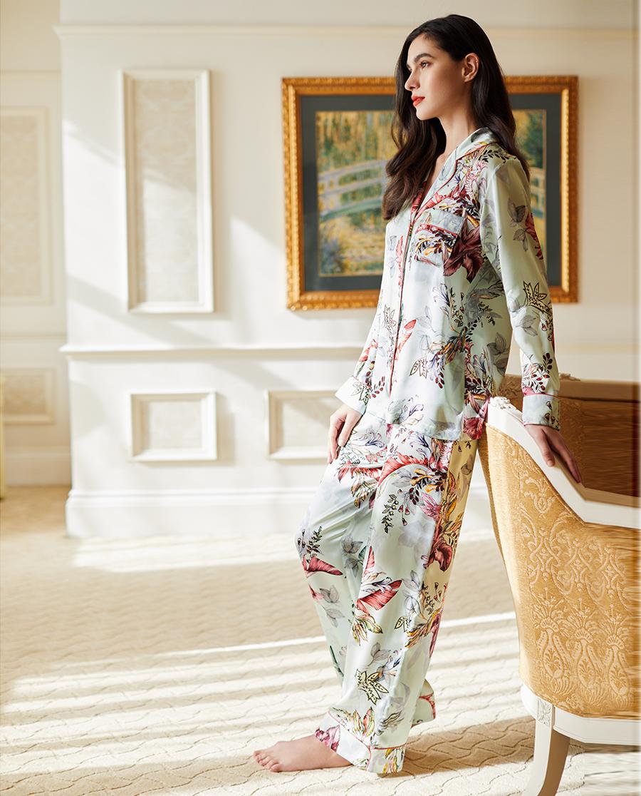 LUNA DI SETA睡衣|花海系列真絲分身睡衣