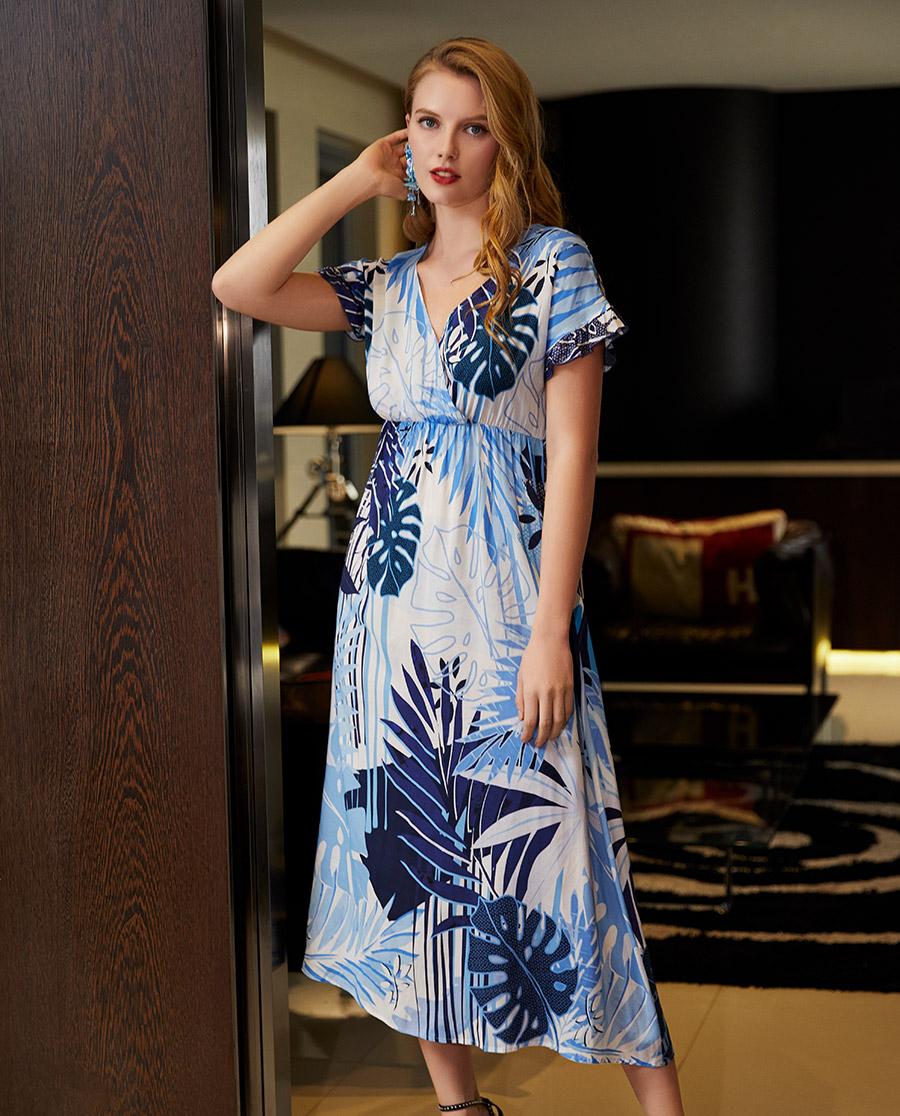 Le Chat睡衣|幻乐之城系列短袖长睡裙