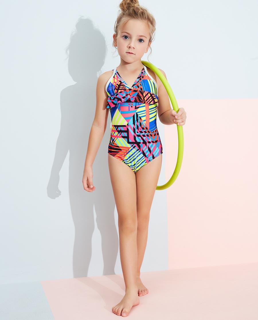 Aimer Kids泳衣 爱慕儿童2件装炫彩活力连体泳衣AK167