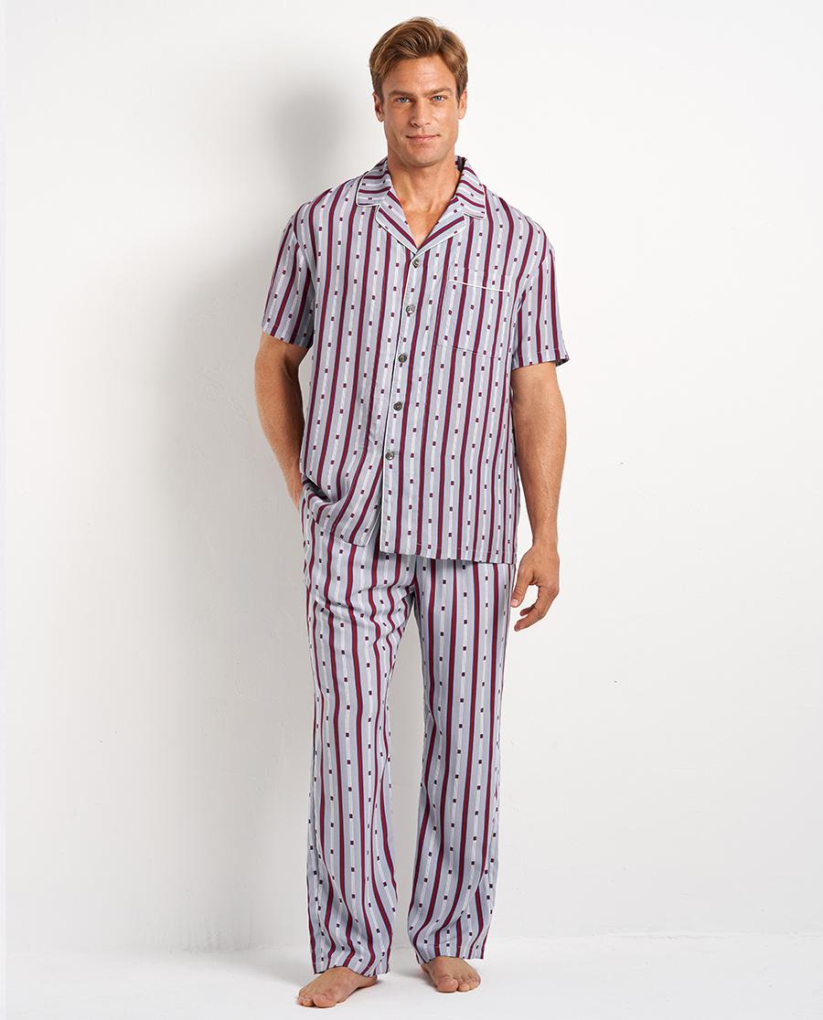 Aimer Men睡衣|爱慕先生20SS梭织条纹印花长裤NS42