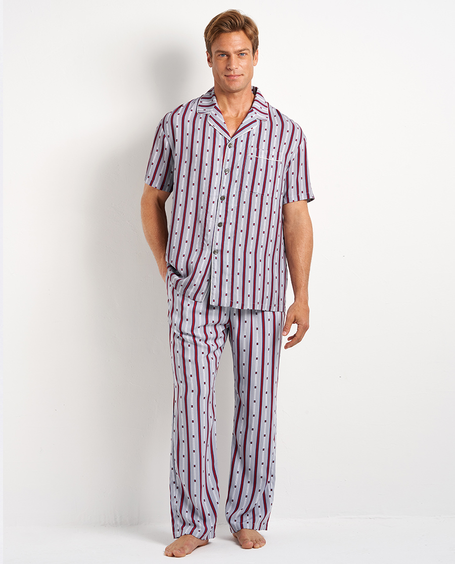 Aimer Men睡衣|愛慕先生20SS梭織條紋印花長褲NS42
