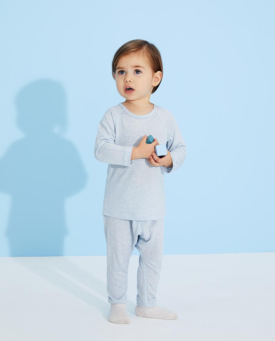 Aimer Baby睡衣|愛慕嬰兒植物涼爽男嬰幼套頭長袖睡衣AB2