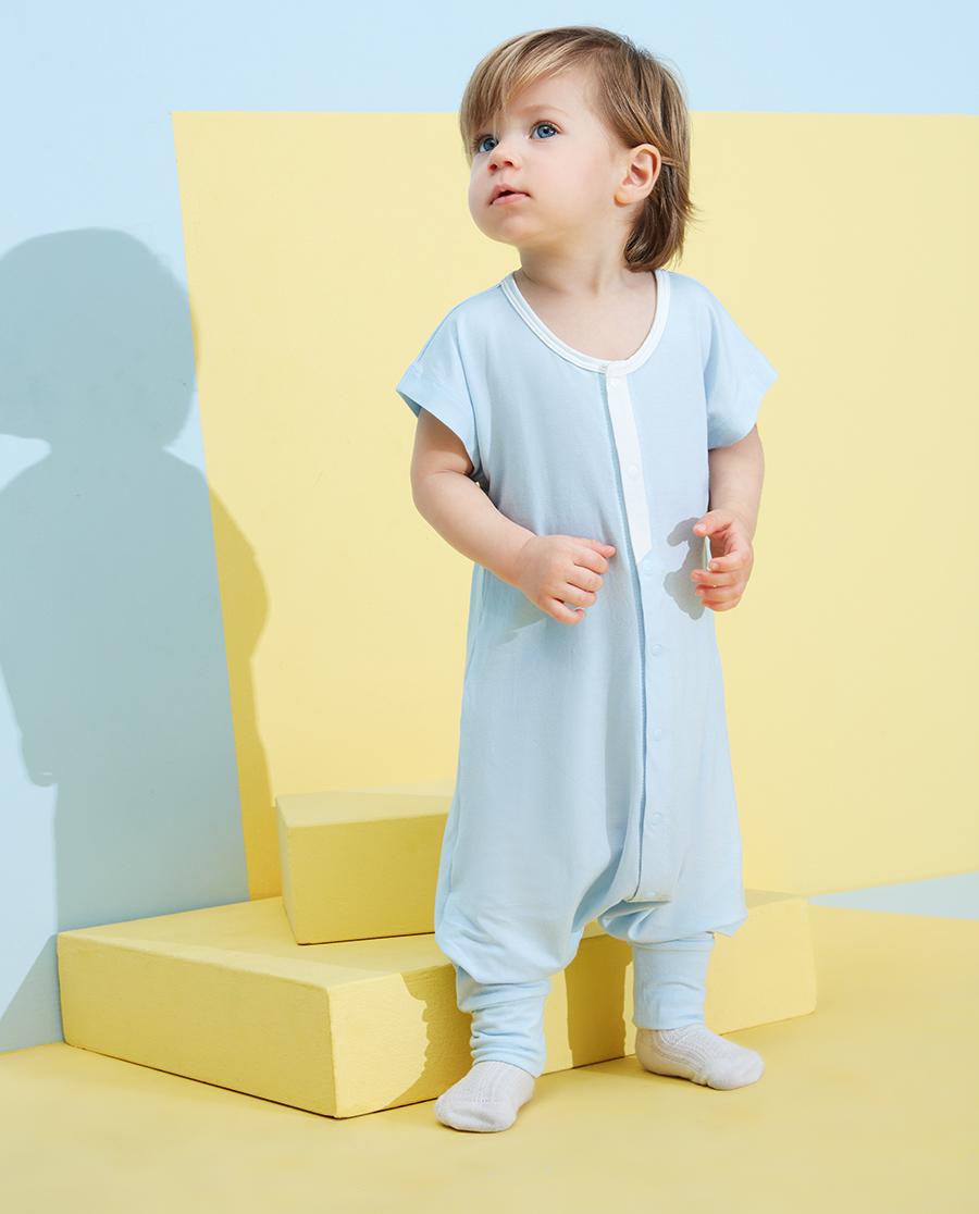 Aimer Baby睡衣|愛慕嬰兒靜享夏日男嬰幼短袖睡袋AB245