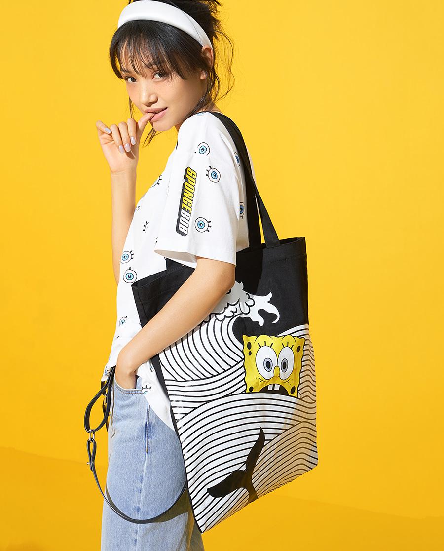 IMIS配飾| 愛美麗海綿寶寶大系列帆布包IM95AY