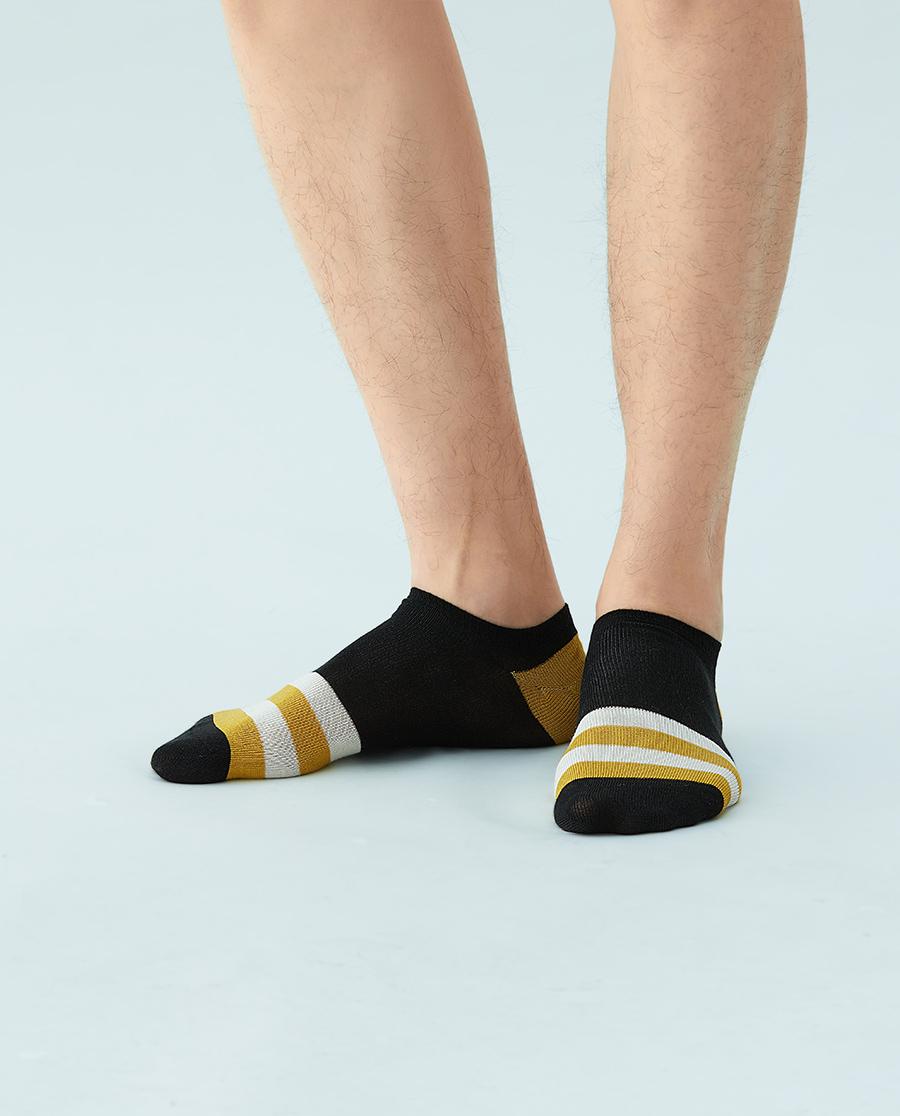 JOURVA襪子|足哇20SS溫馨家人拼色條紋男士船襪JV