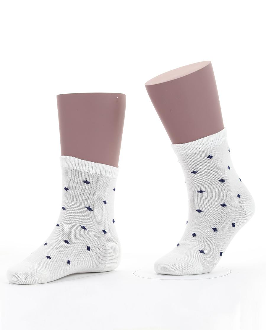 JOURVA袜子|足哇星星点点(2件包)蓝色点点棉质短筒袜