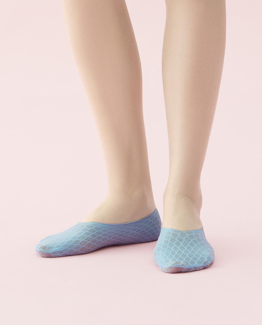 JOURVA襪子|足哇摯愛蕾絲蜂巢網眼隱形襪JV11106