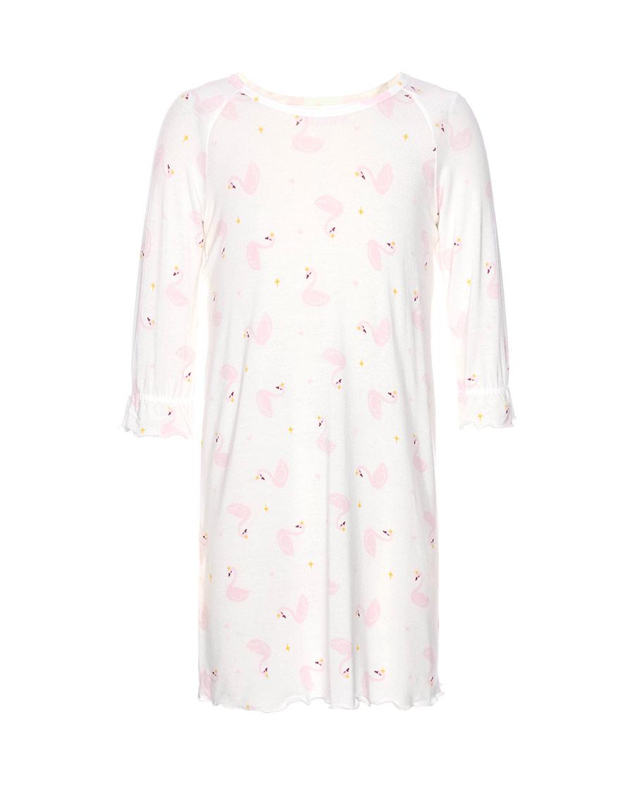 Aimer Kids睡衣|爱慕儿童粉馨天鹅女孩七分袖睡裙AK1442951