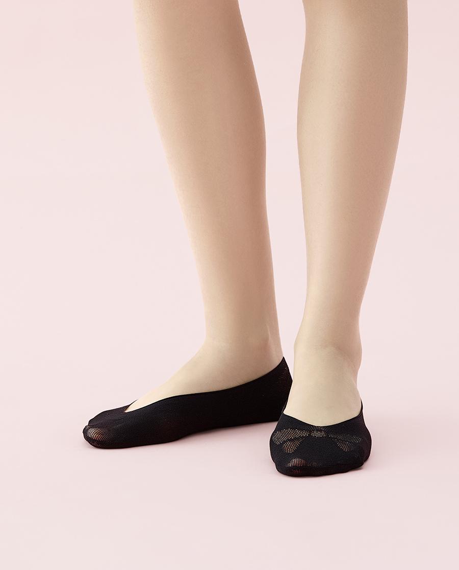 JOURVA襪子|足哇摯愛蕾絲蝴蝶結網眼隱形襪JV1110