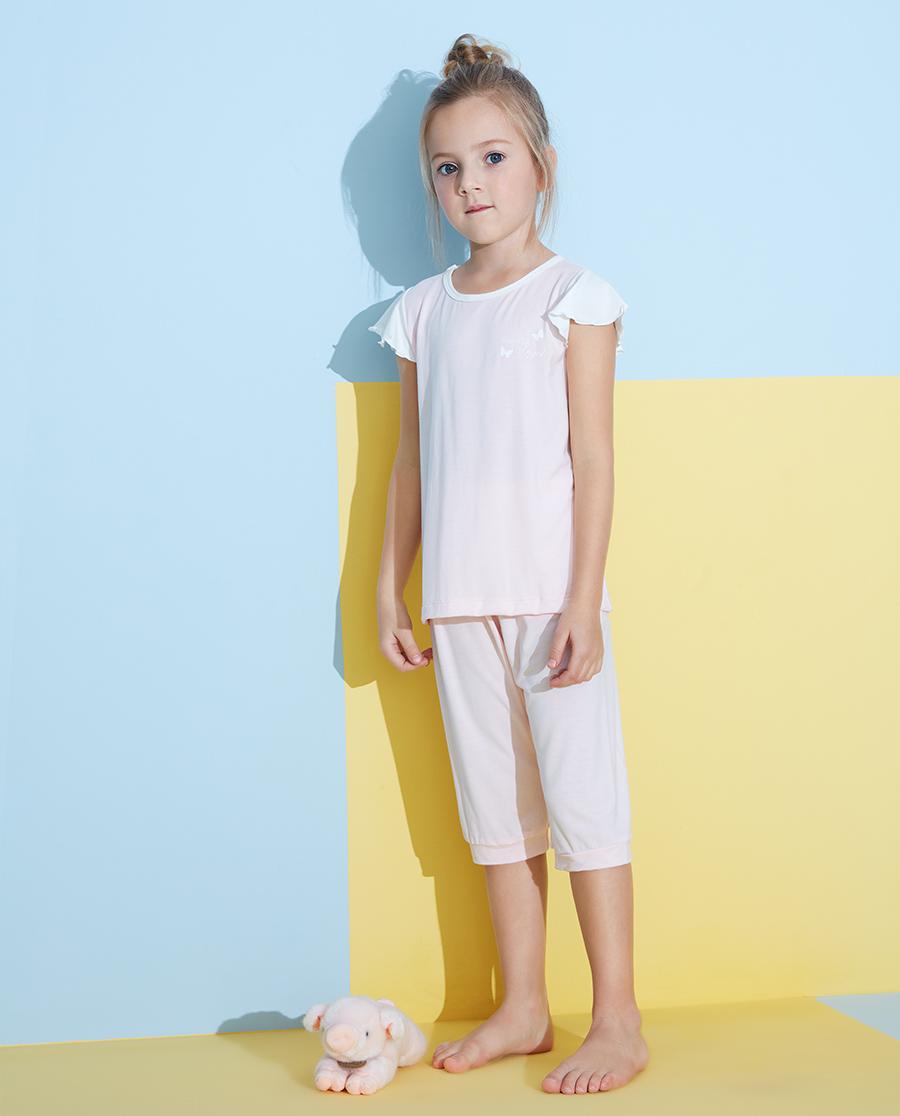 Aimer Kids睡衣|愛慕兒童靜享夏日女孩七分睡褲AK1422