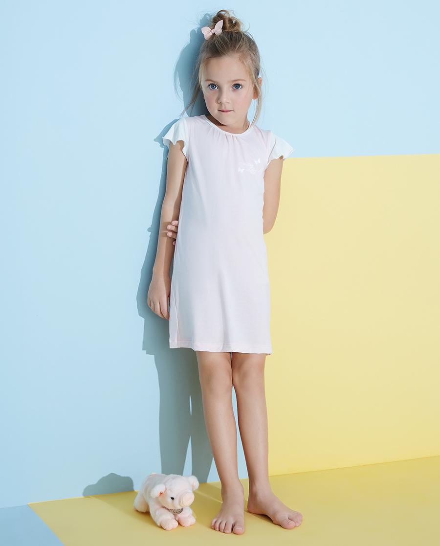 Aimer Kids睡衣|愛慕兒童靜享夏日女孩短袖睡裙AK1442
