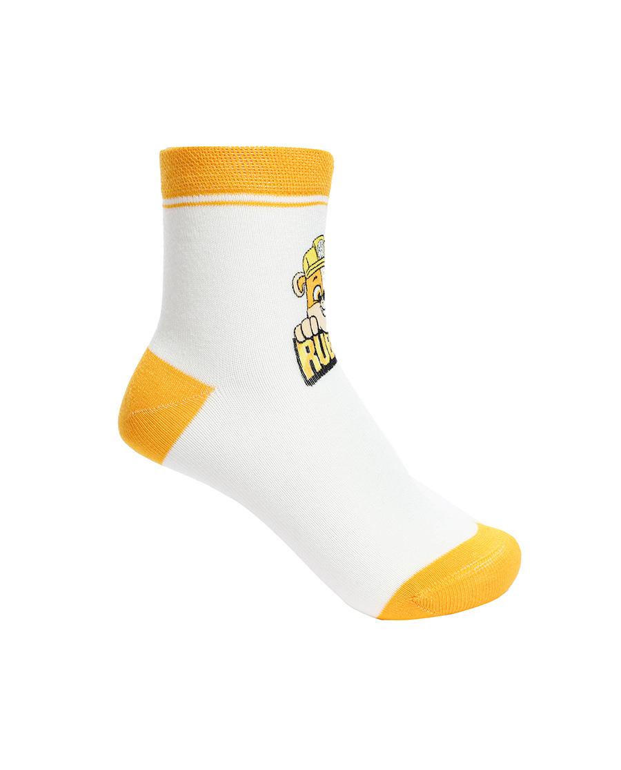 Aimer Kids襪子|愛慕兒童汪汪隊襪子男孩黃色小礫短襪AK2