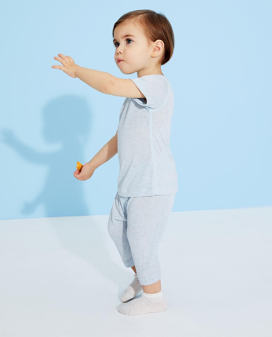 Aimer Baby睡衣|愛慕嬰兒植物涼爽男嬰幼套頭短袖睡衣AB2