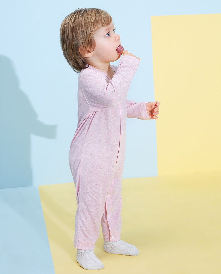 Aimer Baby睡衣|愛慕嬰兒植物涼爽女嬰幼長袖連體爬服AB1