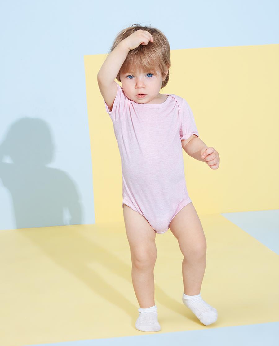 Aimer Baby睡衣|愛慕嬰兒植物涼爽女嬰幼短袖無腿連體爬服A