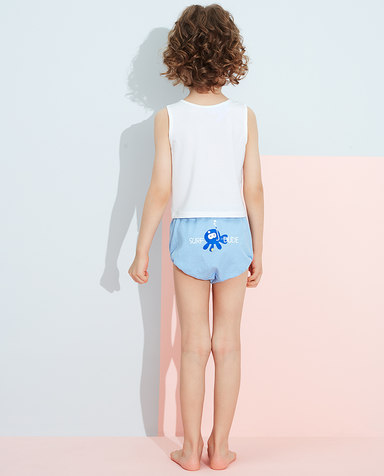 Aimer Kids内裤|爱慕儿童天使小裤清爽棉印花男孩章鱼小家伙局印面包裤AK2222831
