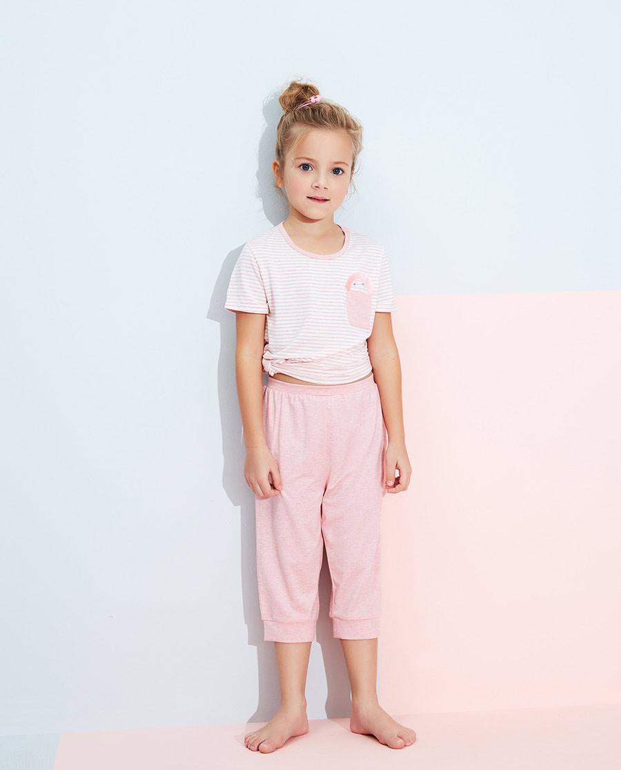 Aimer Kids睡衣|愛慕兒童傾情植物女孩七分睡褲AK1422