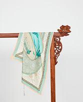 印花方巾-丝路山水卷轴HL31065